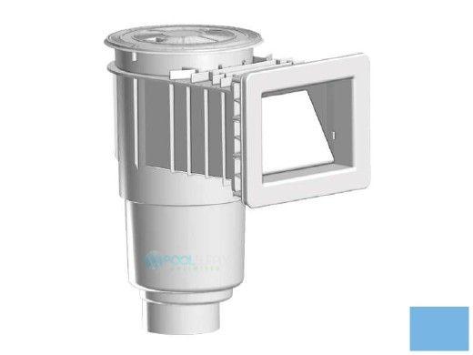 "AquaStar Flow Star Skimmer with 5"" Deep Throat, Float Assembly, Basket, Lid and Adjustable Collar for Fiberglass with 4"" Socket Sump | Blue | SKRFL12104D"