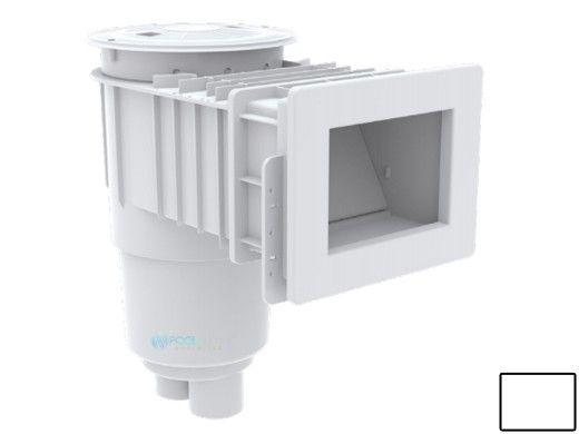 "AquaStar Flow Star Standard Skimmer with Narrow 9"" Deep Throat, Float Assembly, Basket, Lid and Adjustable Collar for Vinyl | White | SKRVFL3N101"