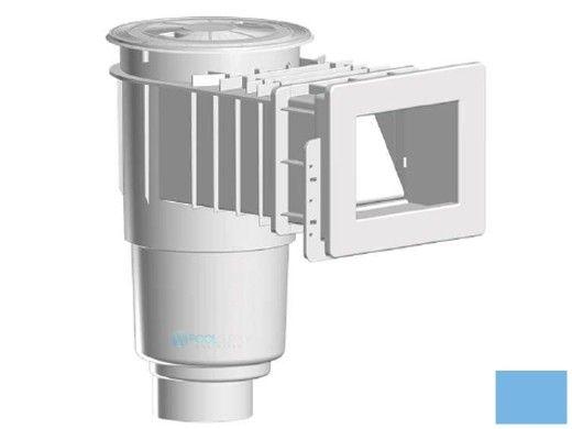 "AquaStar Flow Star Standard Skimmer with Narrow 9"" Deep Throat, Float Assembly, Basket, Lid and Adjustable Collar with 4"" Socket Sump for Vinyl   Blue   SKRVFL3N104D"