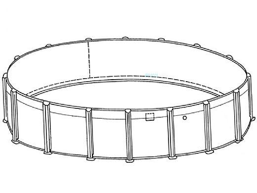"Coronado 16' Round Above Ground Pool | Basic Package 54"" Wall | 167926"