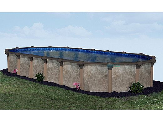 "Coronado 12' x 20' Oval Above Ground Pool | Basic Package 54"" Wall 