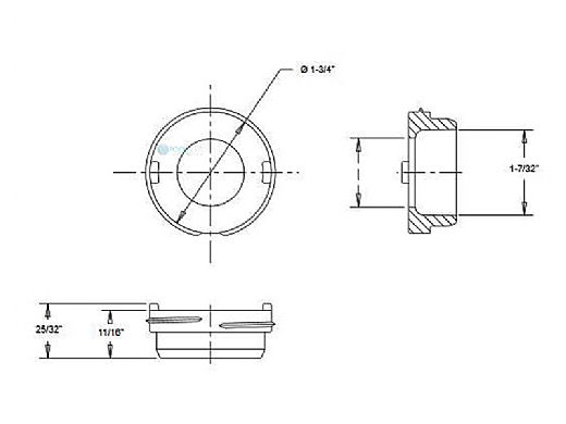 "AquaStar Straight Flow Insert 1-1/2"" MPT | White | TM101"