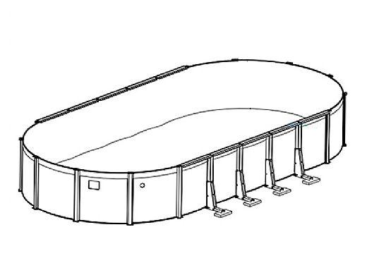"Coronado 18' x 33' Oval Above Ground Pool | Basic Package 54"" Wall | 167972"