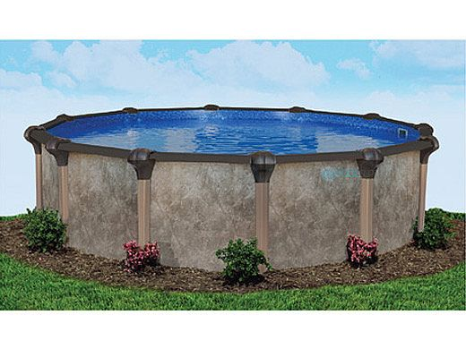 "Laguna 24' Round Above Ground Pool | Ultimate Package 52"" Wall 