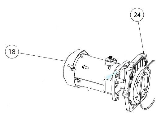 Pentair IntelliFlo Motor 3.2kW 10 Pole   Almond   350305S