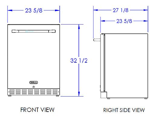 Bull Premium Outdoor Rated Stainless Steel Fridge Series II | 13700