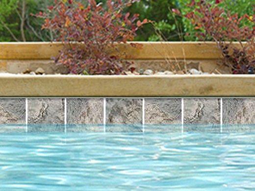 National Pool Tile Ridgeline 6x6 Series | Silver | RLN-SILVER