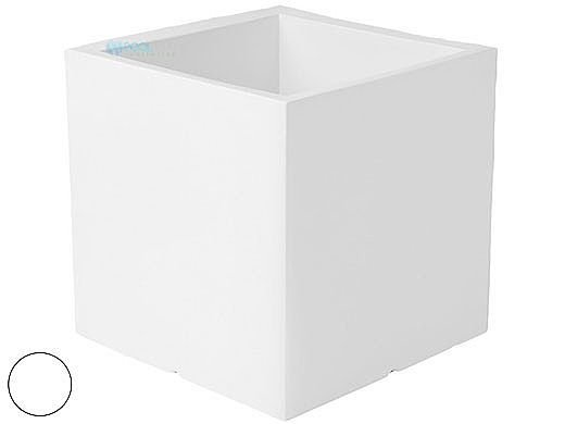 """Ledge Lounger Affinity Collection Outdoor Square Planter   Small 23"""" W x 24"""" H   White   LL-AF-P-24SQ-W"""