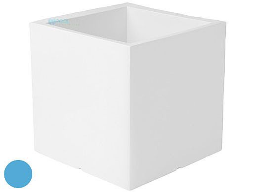 """Ledge Lounger Affinity Collection Outdoor Square Planter   Small 23"""" W x 24"""" H   Light BLue   LL-AF-P-24SQ-LB"""