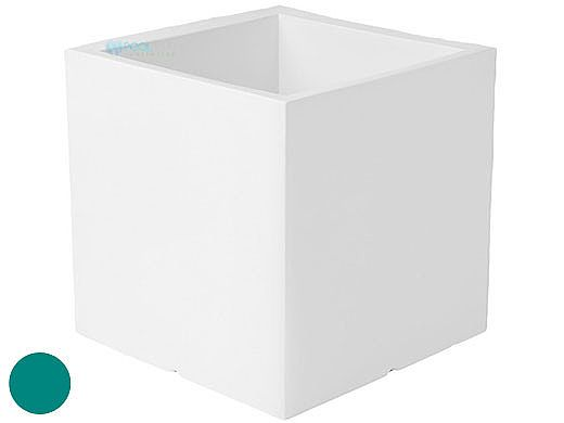 """Ledge Lounger Affinity Collection Outdoor Square Planter   Small 23"""" W x 24"""" H   Teal   LL-AF-P-24SQ-TL"""