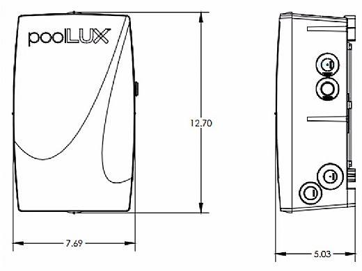 SR Smith PoolLUX Power Transformer Lighting Control System   60 Watt 120V   Includes 2 Kelo Pool Lights   2KE-PLX-PW60