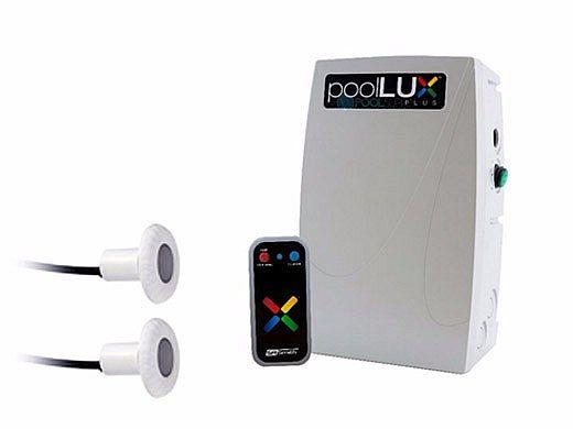 SR Smith PoolLUX Plus Lighting Control System   60 Watt 120V Transformer   Includes 2 Kelo Pool Lights   2KE-PLX-PL60