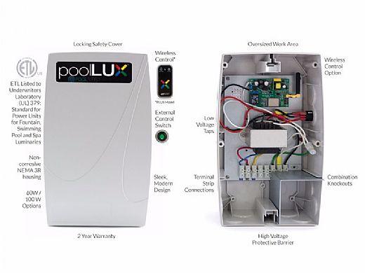 SR Smith PoolLUX Plus Lighting Control System   100 Watt 120V Transformer   Includes 3 Kelo Pool Lights   3KE-PLX-PL100