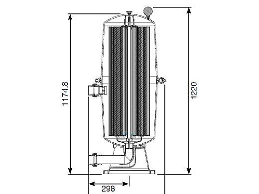 Waterco Fulflo TC500 Cartridge Filter   500 Sq. Ft. 134 GPM   2165500USA