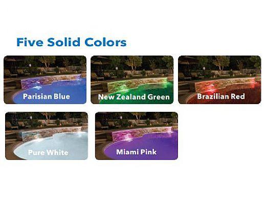 J&J Electronics ColorSplash VU Nicheless RGB Series LED Pool and Spa Light Fixture   8W 12V 100' Cord   LPL-R1C-12-100
