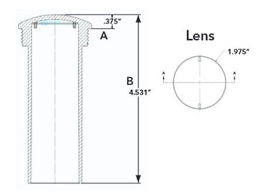 J&J Electronics PureWhite VU Nicheless LED Pool and Spa Light Fixture | 8 W 12V 30' Cord | LPL-R1W-12-30