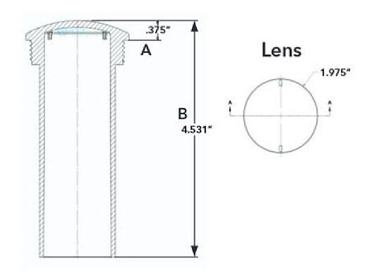 J&J Electronics PureWhite VU Nicheless LED Pool and Spa Light Fixture | 8 W 12V 150' Cord | LPL-R1W-12-150