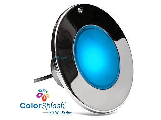 J&J Electronics ColorSplash XG-W Series RGB + White LED Pool Light SwimQuip Version | 120V Equivalent 33W 100' Cord | LPL-F2CW-120-100-PSQ