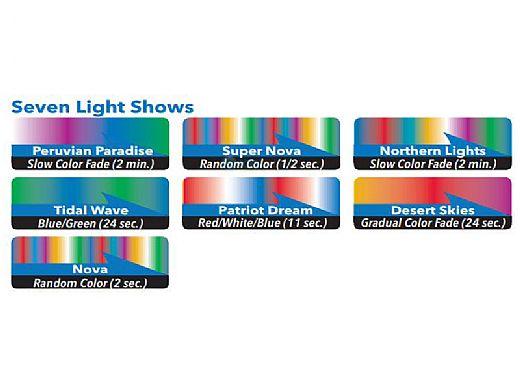 J&J Electronics ColorSplash XG-W Series RGB + White LED Pool Light SwimQuip Version | 120V Equivalent 33W 150' Cord | LPL-F2CW-120-150-PSQ