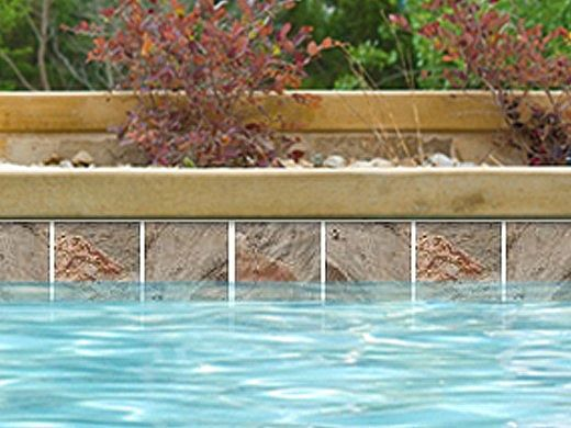 National Pool Tile Ridgeline 6x6 Series | Multicolor | RNL-MULTICOLOR