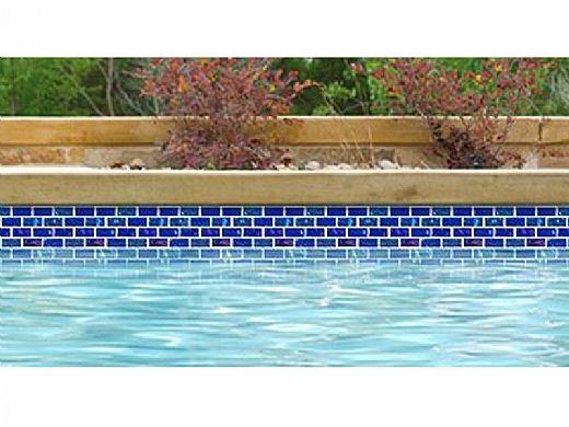 National Pool Tile Equinox 1x2 Glass Tile | Dark Blue | EQX-MIDNIGHT1X2