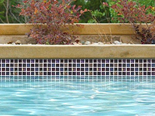 National Pool Tile Equinox 1x1 Glass Tile | Multicolor | EQX-AURORA