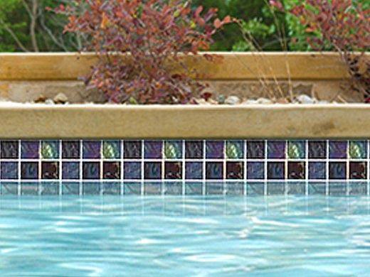 National Pool Tile Equinox 2x2 Glass Tile | Multicolor | EQX-AURORA2X2