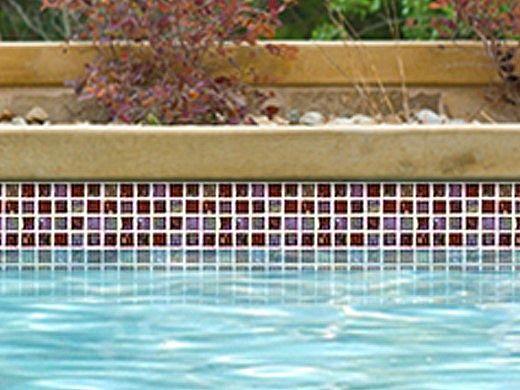 National Pool Tile Equinox 1x1 Glass Tile | Amber Rust | EQX-AUTUMN