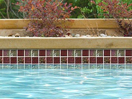 National Pool Tile Equinox 2x2 Glass Tile | Amber Rust | EQX-AUTUMN2X2