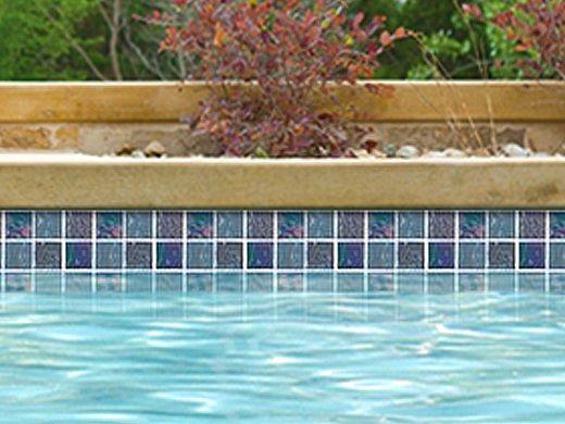 National Pool Tile Equinox 2x2 Glass Tile | Black Steel | EQX-OBSIDIAN2X2
