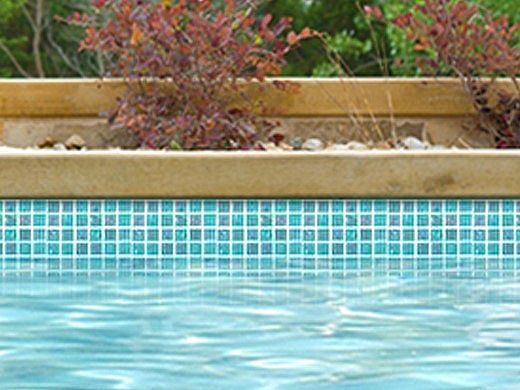 National Pool Tile Equinox 1x1 Glass Tile   Icy Teal   EQX-WINTER