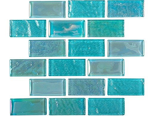 National Pool Tile Equinox 2x2 Glass Tile | Icy Teal | EQX-WINTER2X2