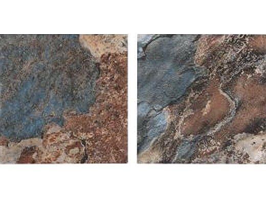 National Pool Tile Ridgeline 6x6 Series   Blue Slate   RLN-BLUE