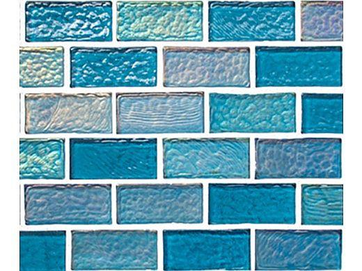National Pool Tile Sea Ice Series 1x2 Glass Tile | Lagoon | ICE-LAGOON1X2