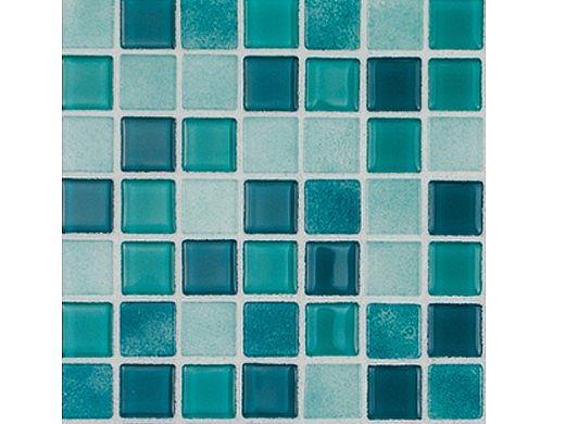 National Pool Tile Boutique Ibiza .75in x .75in Glass Tile | Aquamarine | IBZ-AQUAMARINE