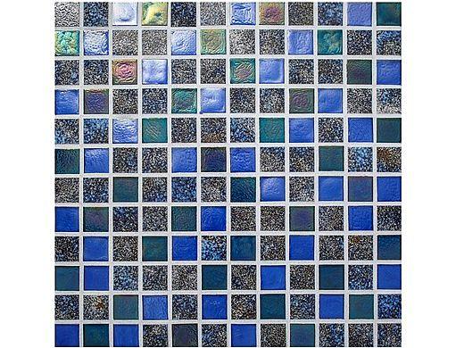National Pool Tile Pacific Palisades Series 1x1 Glass Tile | Aquamarine | PFS-MARINA