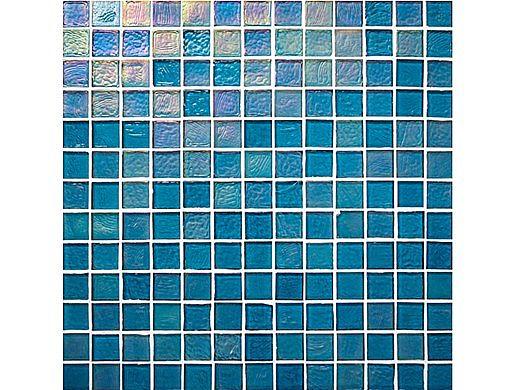 National Pool Tile Sea Ice Series 1x1 Glass Tile| Lagoon | ICE-LAGOON