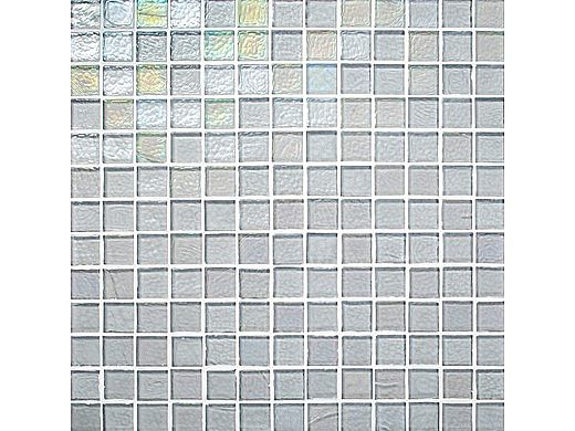 National Pool Tile Sea Ice Series 1x1 Glass Tile | Silver | ICE-SILVER