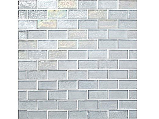 National Pool Tile Sea Ice Series 1x2 Glass Tile | Silver | ICE-SILVER1X2