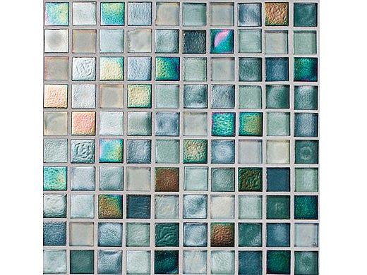 National Pool Tile Boutique Oceanside Mini Blend Glass Tile Marine Ocn Marine Mini