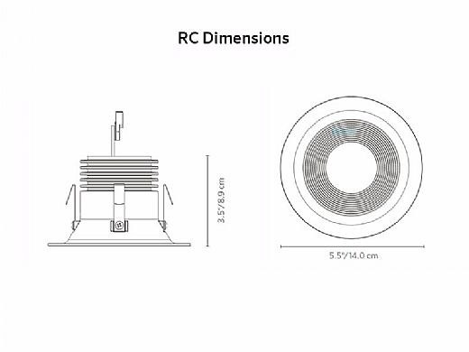 FX Luminaire RC Down Light | ZDC Dimming with Color | Bronze Metallic | RC-ZDC-BZ