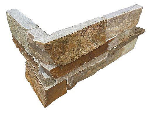 National Pool Tile Natural Ledgerstone 6x16 Corner | Rust | LDGR-RUST CRN