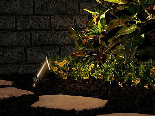 FX Luminaire VS 3LED Up Light | Long Shroud | Nickel Plate | VS-3LED-LS-NP