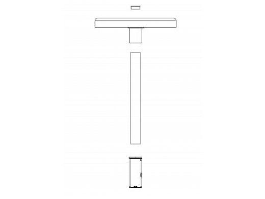 "SR Smith Destination Series 16"" Sun Shelf Table | Gunite Anchor Included | Tan | WS-16 TABLE-51-C"