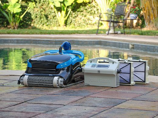 Maytronics Dolphin Nautilus CC Plus Inground Robotic Pool Cleaner with Caddy | 99996403-CADDY