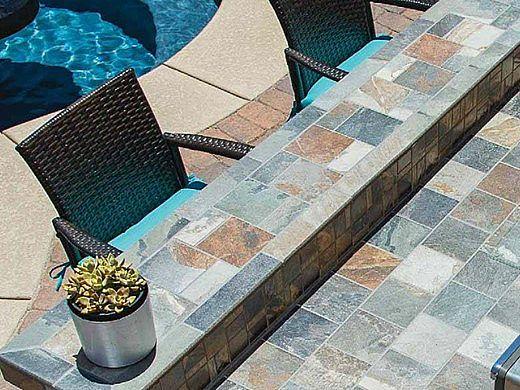 National Pool Tile Himalayan Slate 12x12 Series | Multicolor | HMS-MULTI12