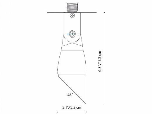 FX Luminaire QT Down Light | 1LED Mini Mount | Bronze Metallic | QT-ZD-1LED-BZ