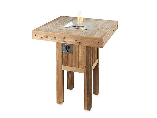 Outdoor Greatroom Vintage Square Gas Fire Pit Table Vng