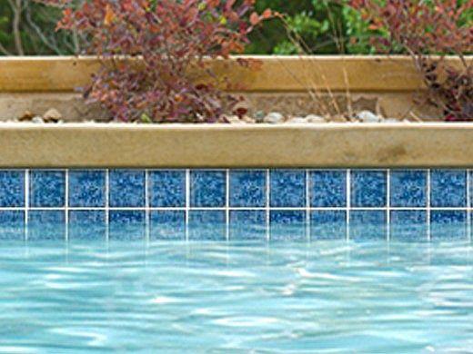 National Pool Tile Tropics 3x3 Series   Aqua   TRO-AQUA