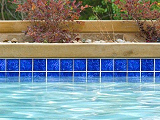 National Pool Tile Tropics 3x3 Series   Cobalt   TRO-COBALT